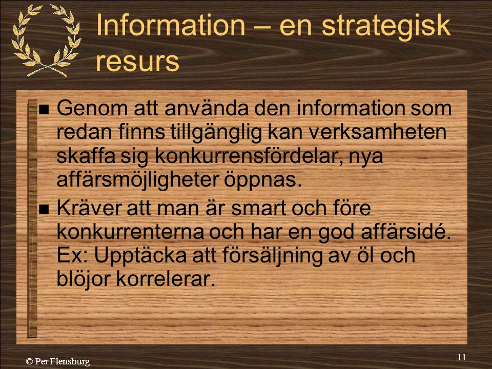 Information – en strategisk resurs