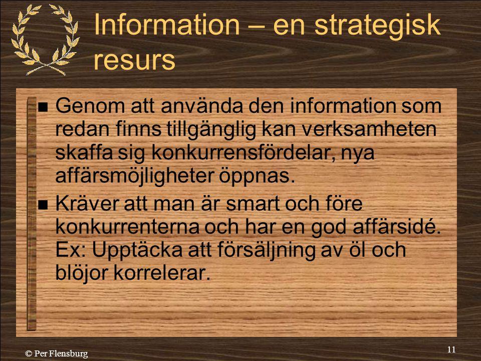 Information – en strategisk resurs