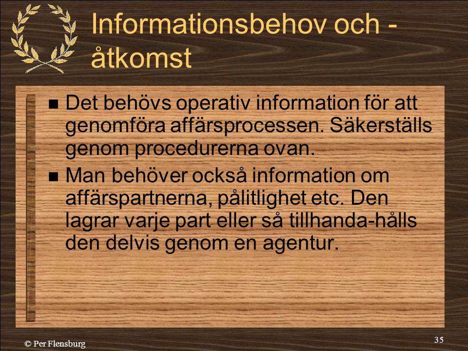 Informationsbehov och -åtkomst
