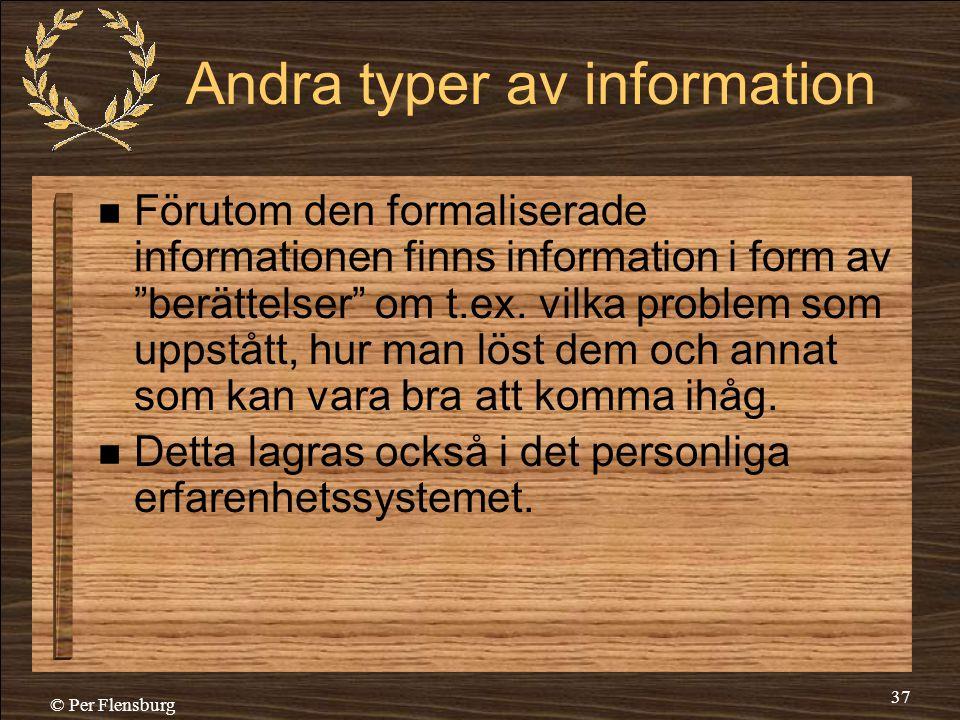 Andra typer av information