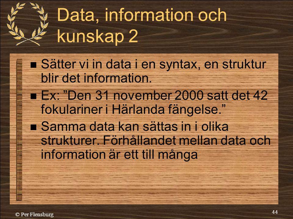 Data, information och kunskap 2