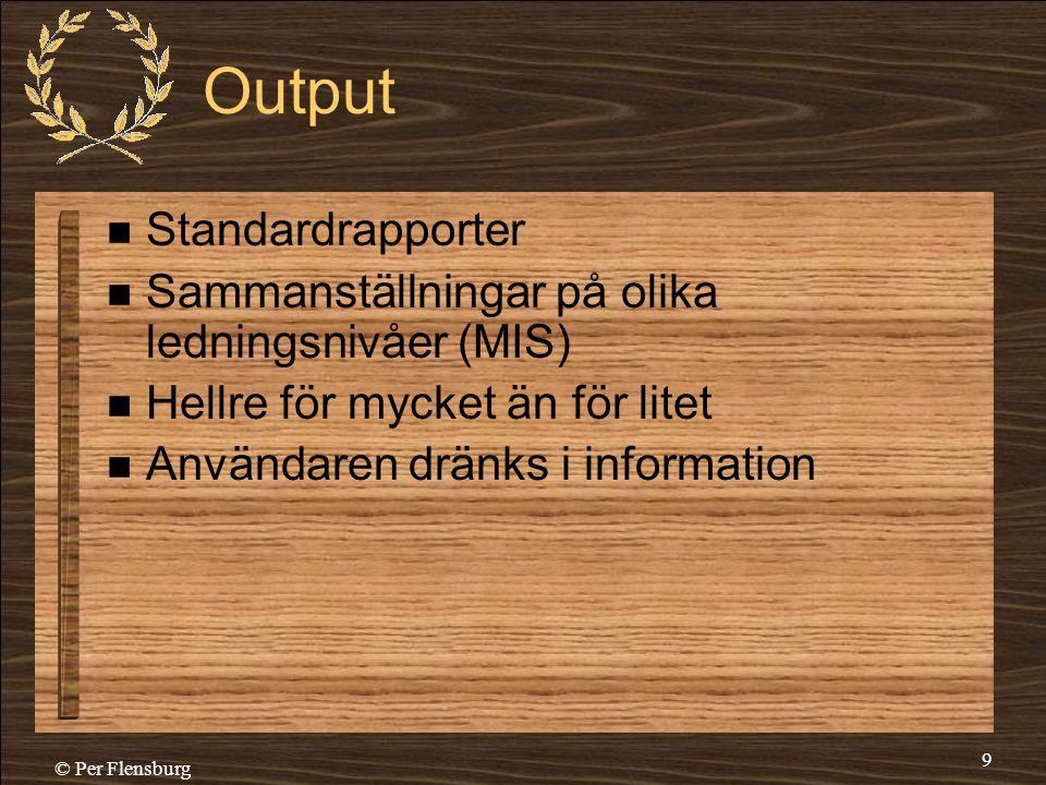 Output Standardrapporter
