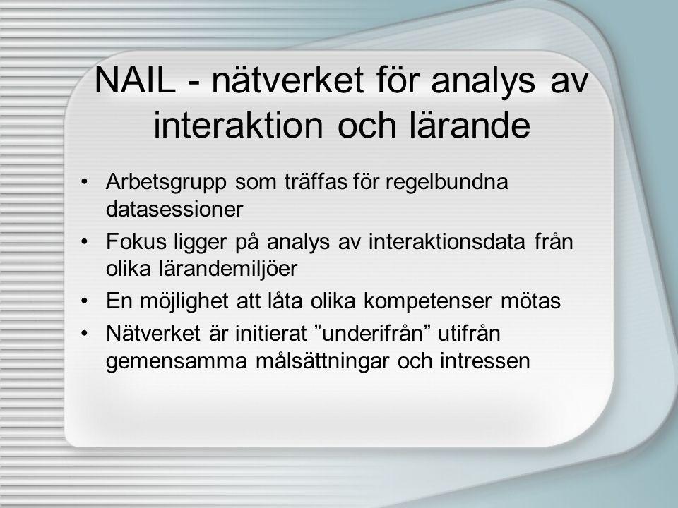 NAIL - nätverket för analys av interaktion och lärande