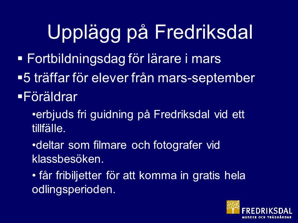 Upplägg på Fredriksdal
