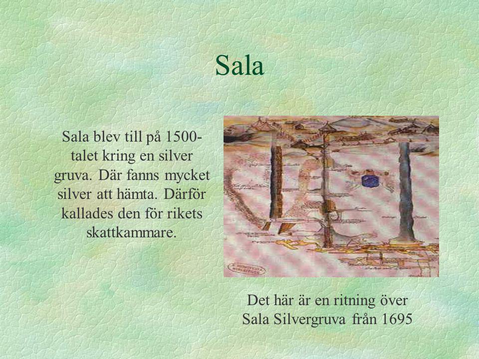 Det här är en ritning över Sala Silvergruva från 1695