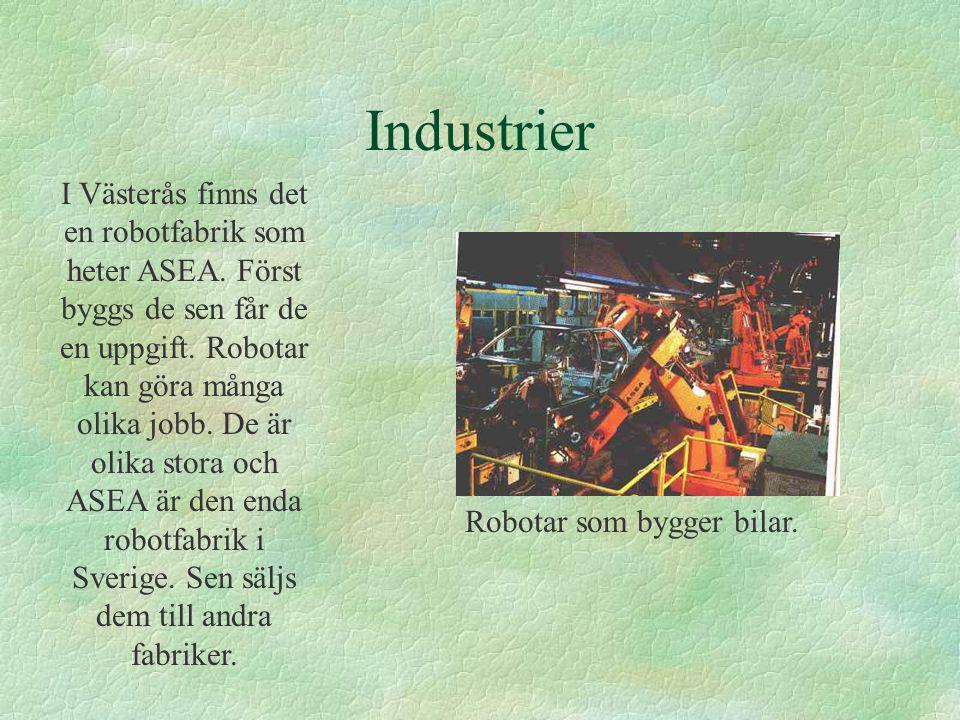 Robotar som bygger bilar.
