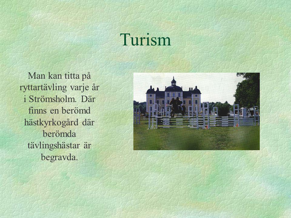 Turism Man kan titta på ryttartävling varje år i Strömsholm.