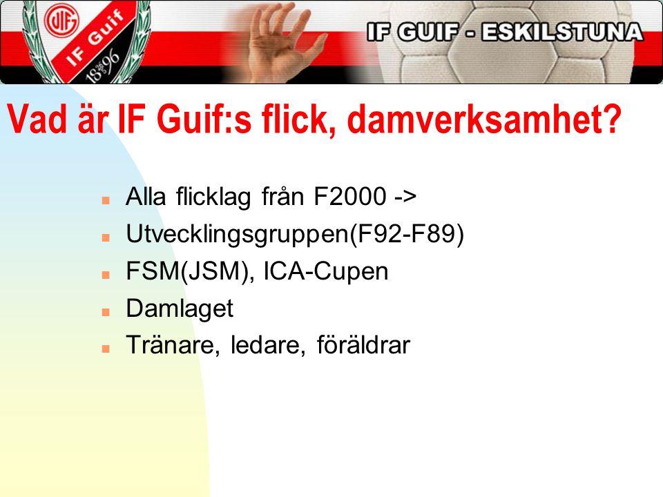 Vad är IF Guif:s flick, damverksamhet