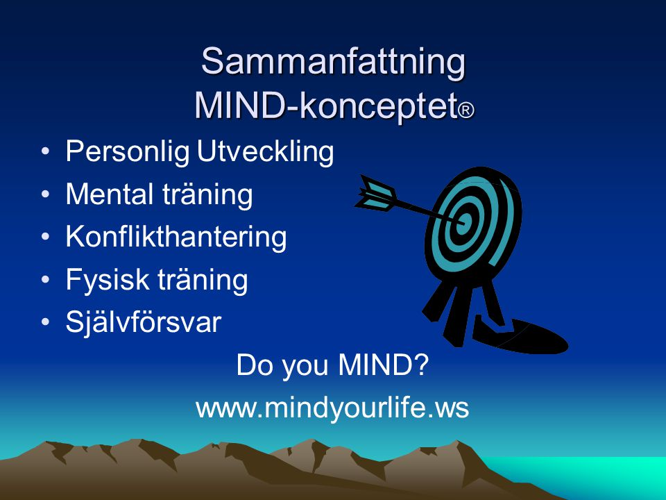 Sammanfattning MIND-konceptet®