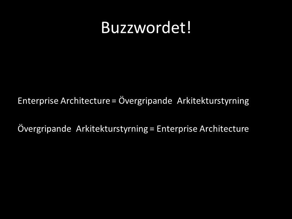 Buzzwordet! Enterprise Architecture = Övergripande Arkitekturstyrning Övergripande Arkitekturstyrning = Enterprise Architecture
