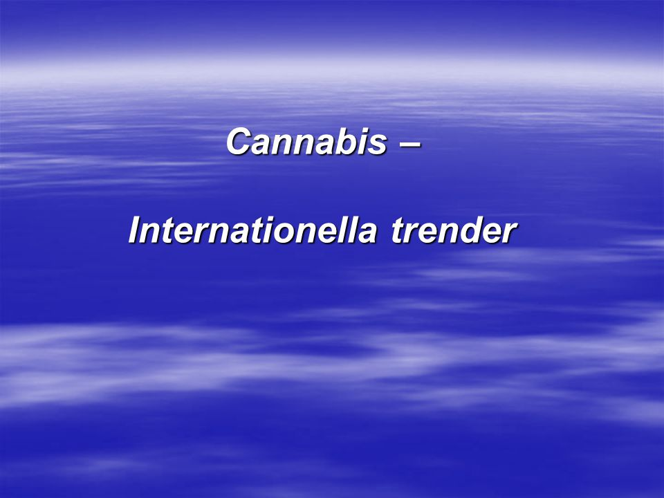 Internationella trender