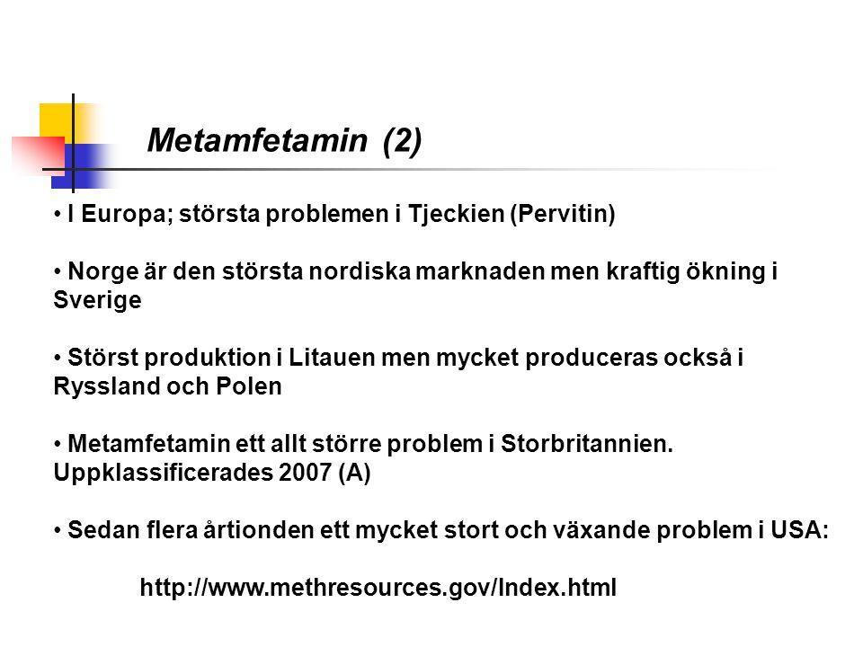 Metamfetamin (2) I Europa; största problemen i Tjeckien (Pervitin)