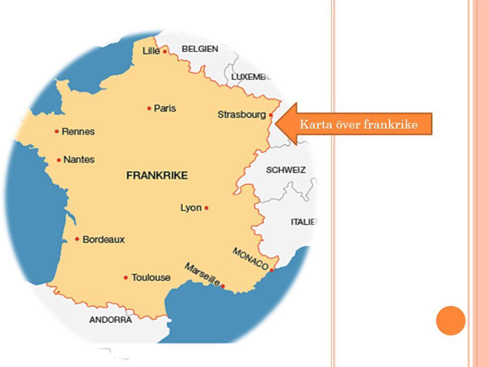 Karta över frankrike .