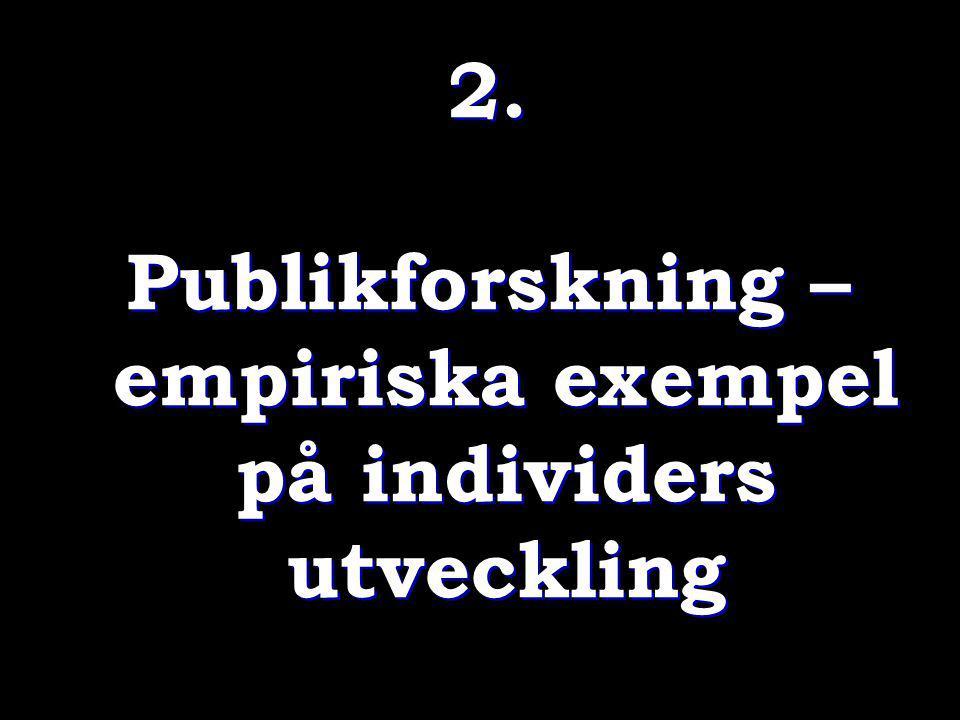Publikforskning – empiriska exempel på individers utveckling