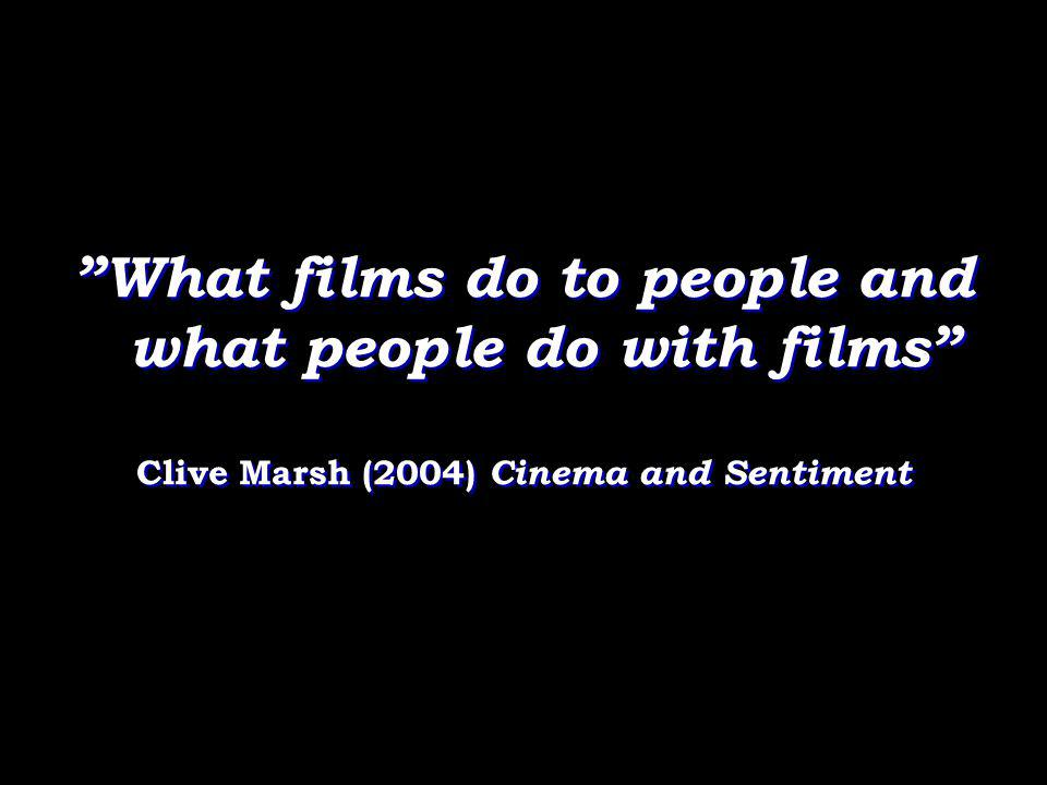 What films do to people and what people do with films