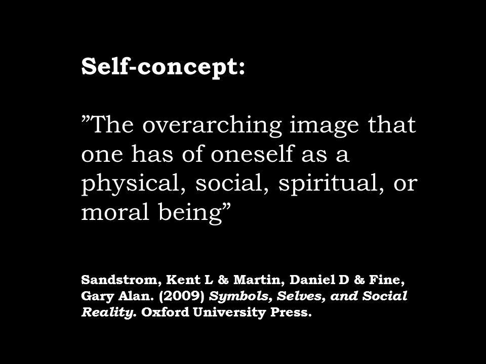 Self-concept: The overarching image that one has of oneself as a physical, social, spiritual, or moral being