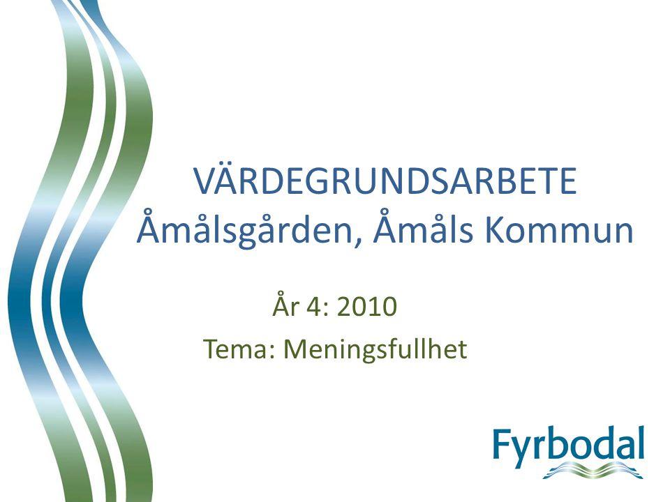 VÄRDEGRUNDSARBETE Åmålsgården, Åmåls Kommun