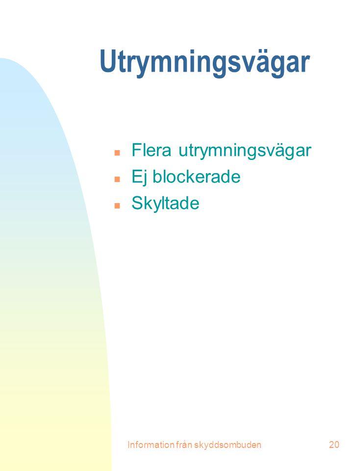 Information från skyddsombuden