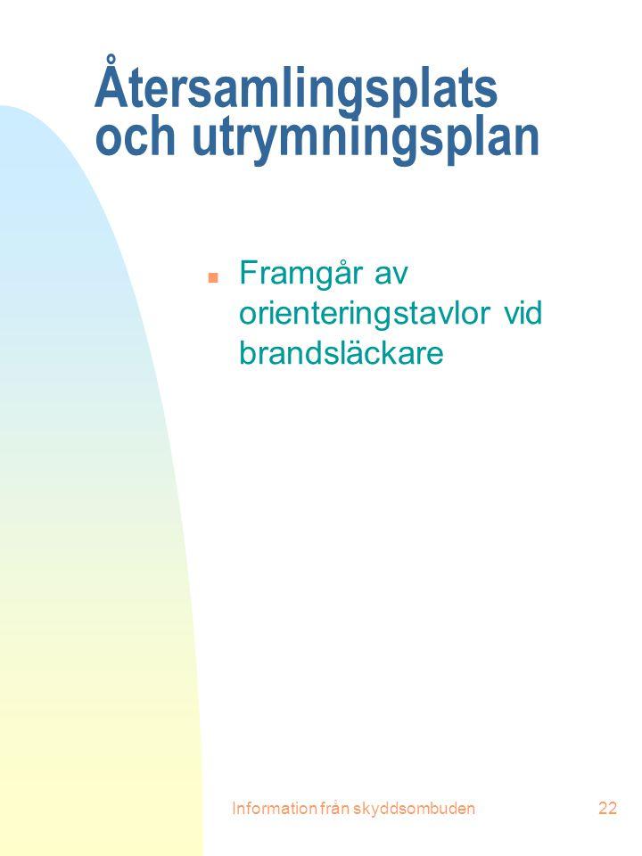 Återsamlingsplats och utrymningsplan