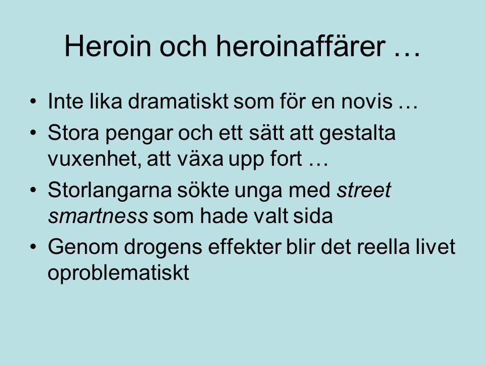 Heroin och heroinaffärer …