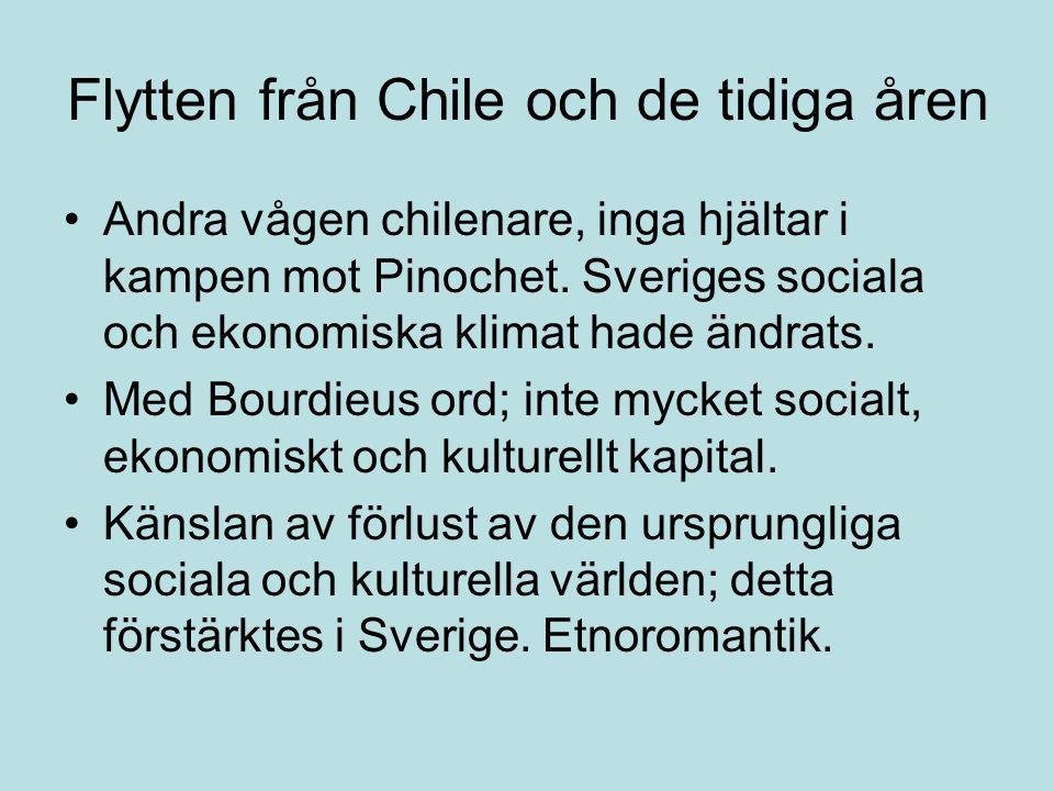 Flytten från Chile och de tidiga åren