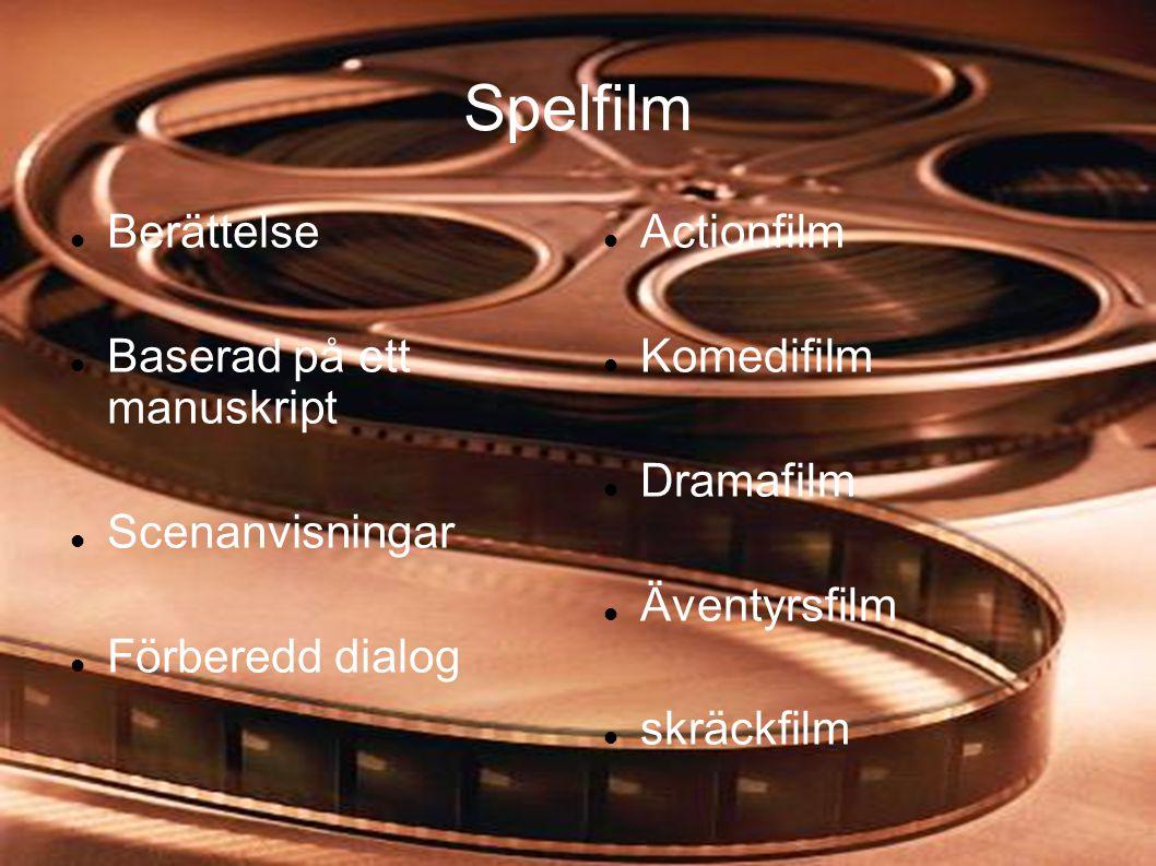 Spelfilm Berättelse Baserad på ett manuskript Scenanvisningar