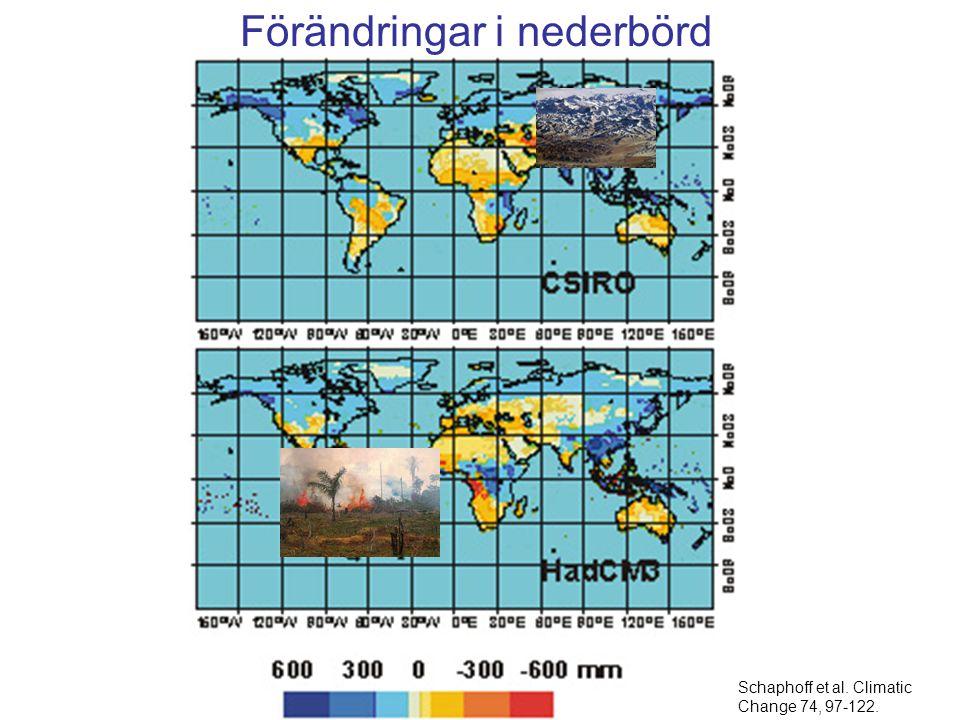 Förändringar i nederbörd