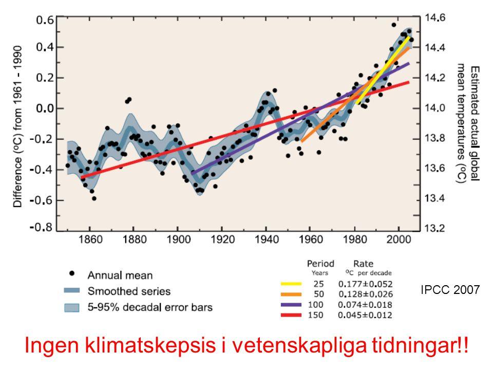 Ingen klimatskepsis i vetenskapliga tidningar!!