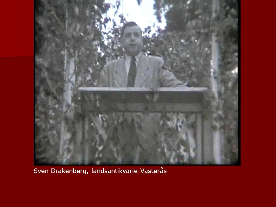 Sven Drakenberg, landsantikvarie Västerås