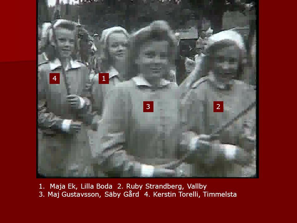4 1. 3. 2. Maja Ek, Lilla Boda 2. Ruby Strandberg, Vallby.
