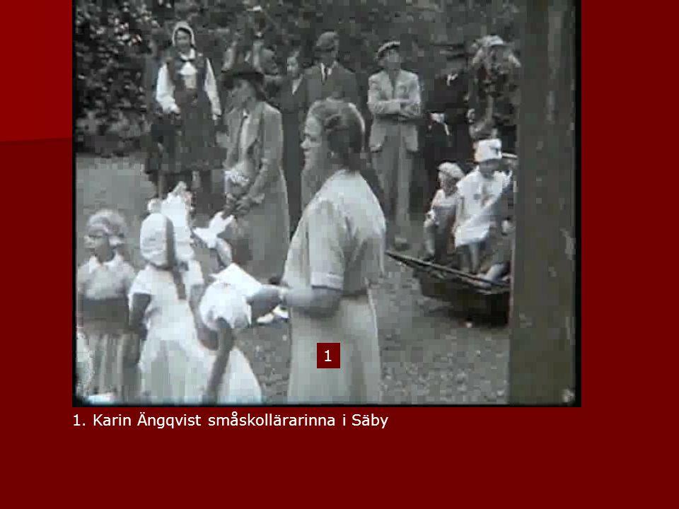 1 1. Karin Ängqvist småskollärarinna i Säby