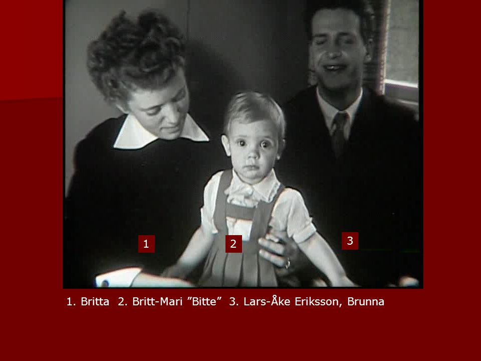 1 2 3 1. Britta 2. Britt-Mari Bitte 3. Lars-Åke Eriksson, Brunna
