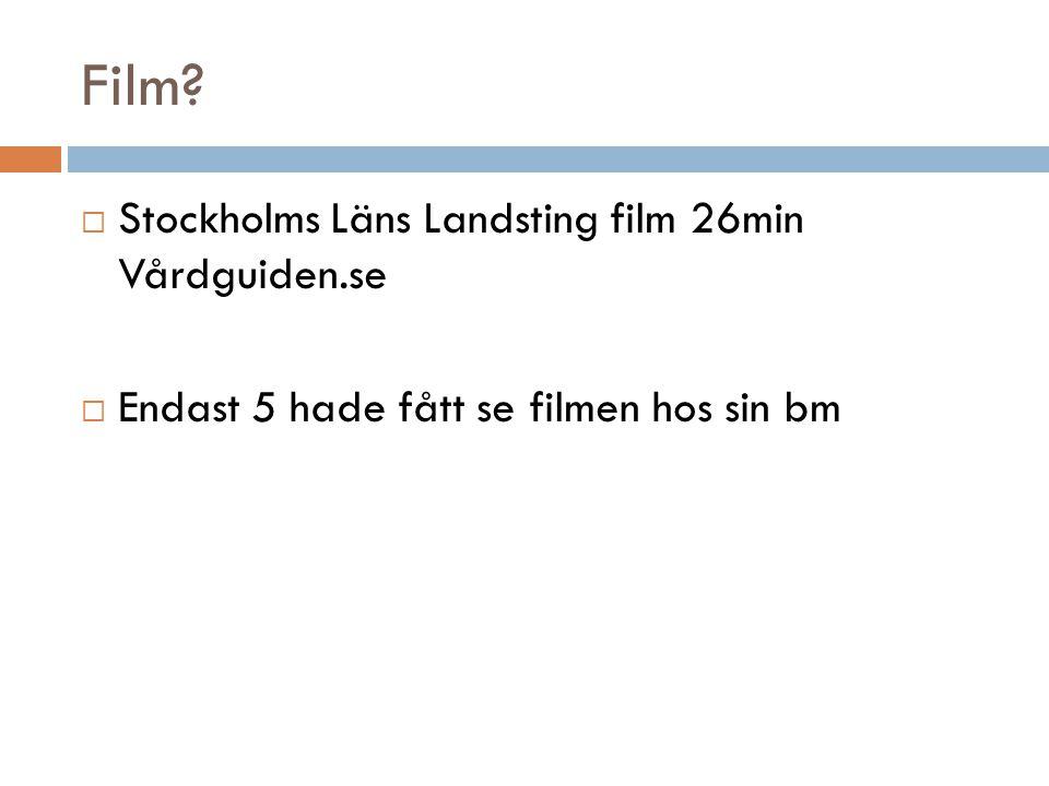 Film Stockholms Läns Landsting film 26min Vårdguiden.se