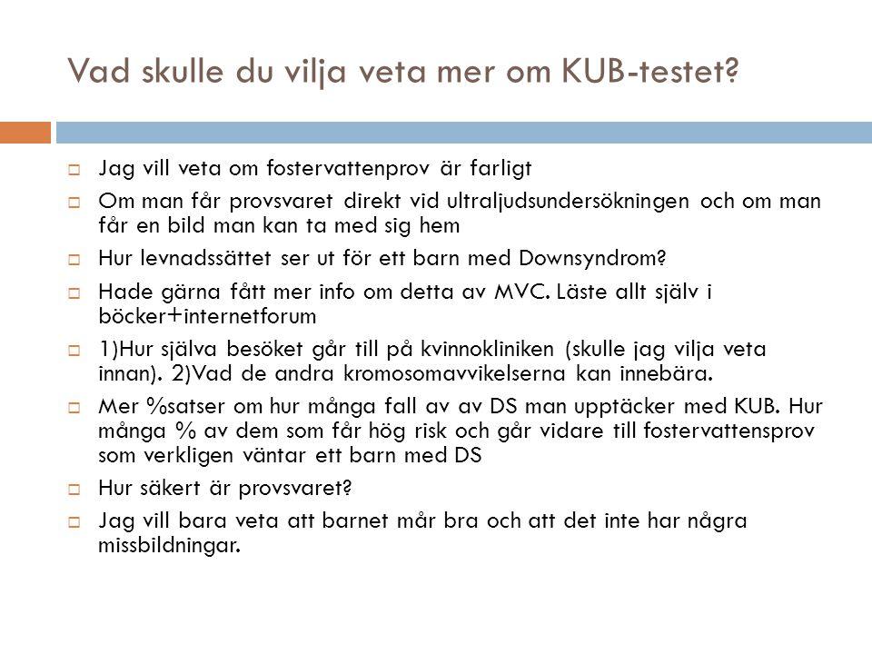 Vad skulle du vilja veta mer om KUB-testet