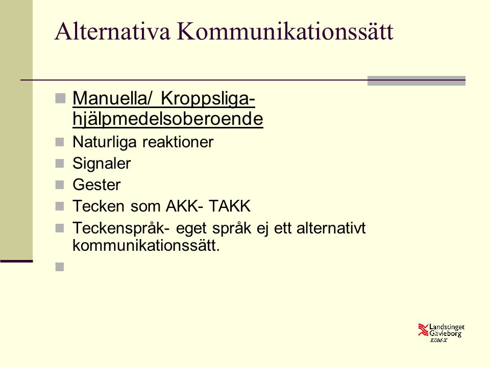 Alternativa Kommunikationssätt