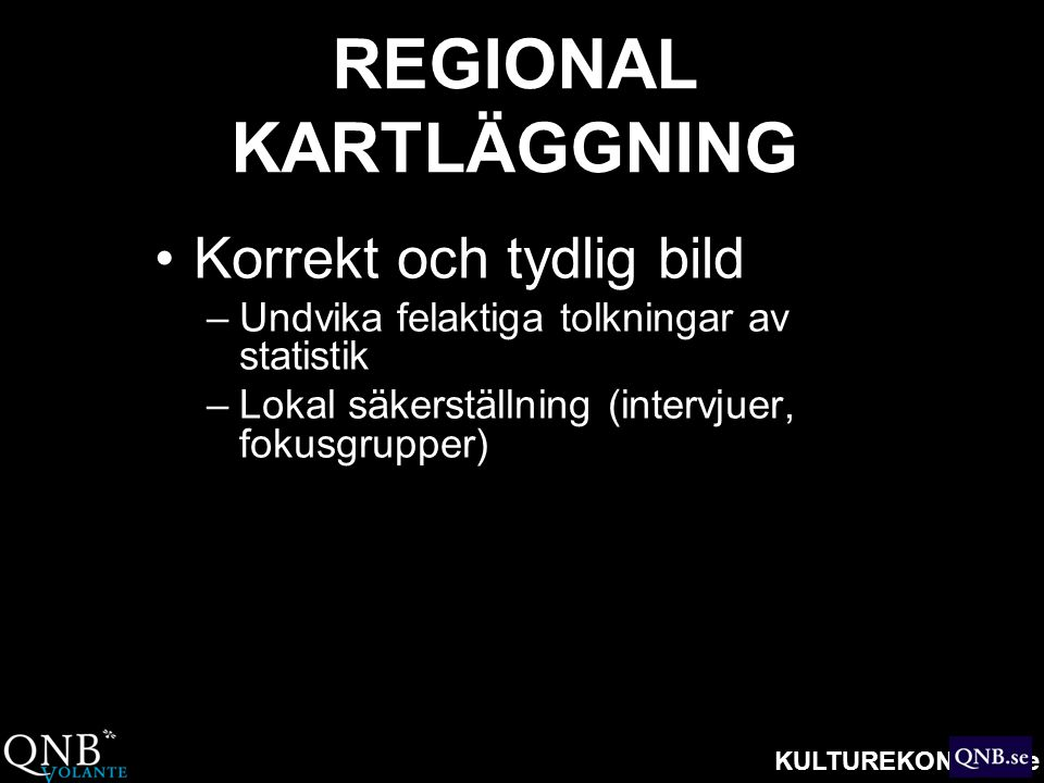 REGIONAL KARTLÄGGNING