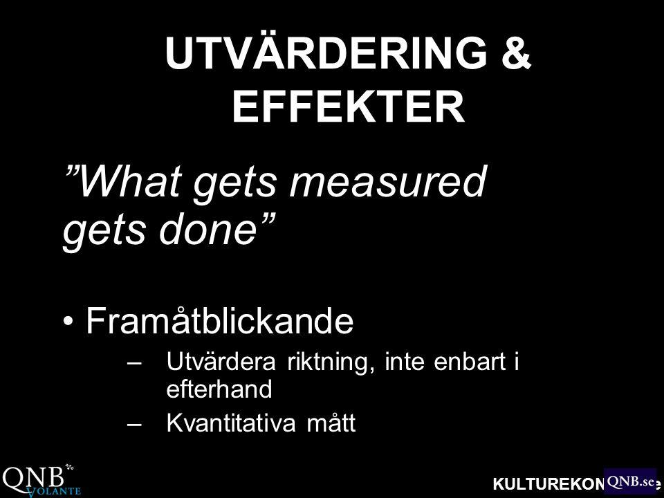 UTVÄRDERING & EFFEKTER