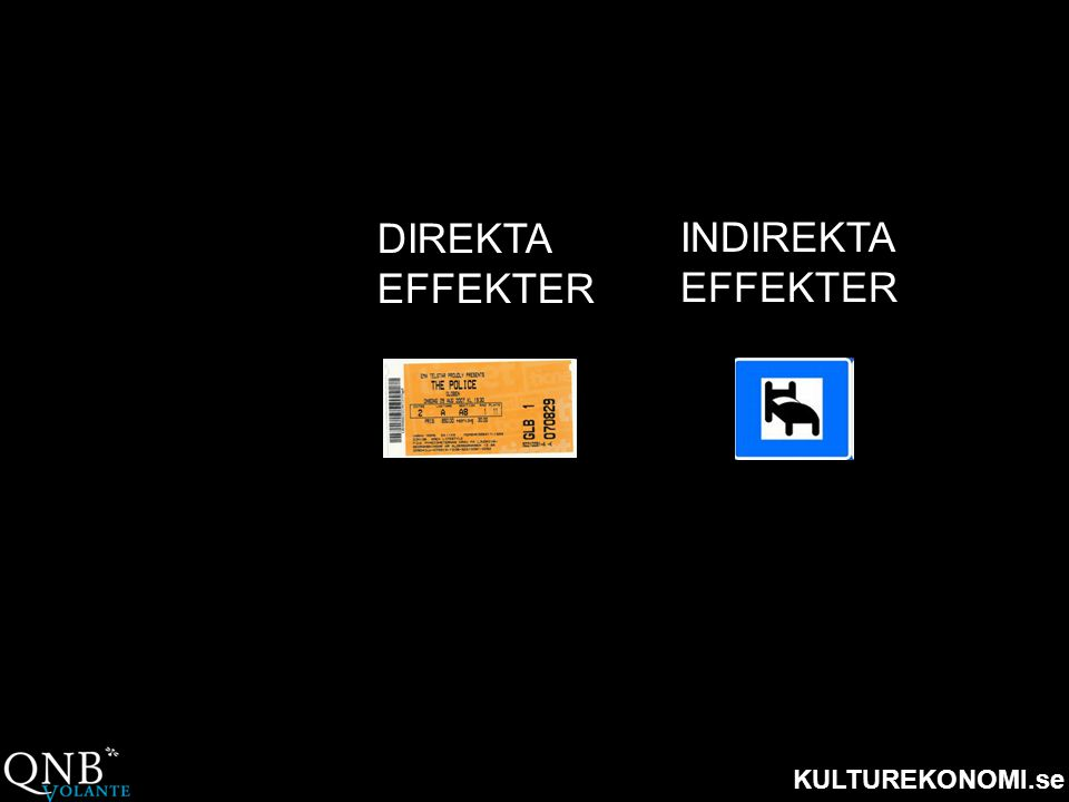 DIREKTA EFFEKTER INDIREKTA EFFEKTER