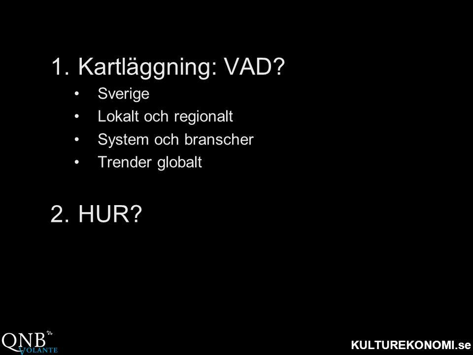 Kartläggning: VAD HUR Sverige Lokalt och regionalt