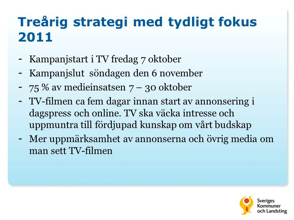 Treårig strategi med tydligt fokus 2011