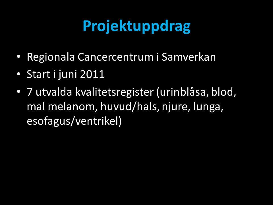 Projektuppdrag Regionala Cancercentrum i Samverkan Start i juni 2011