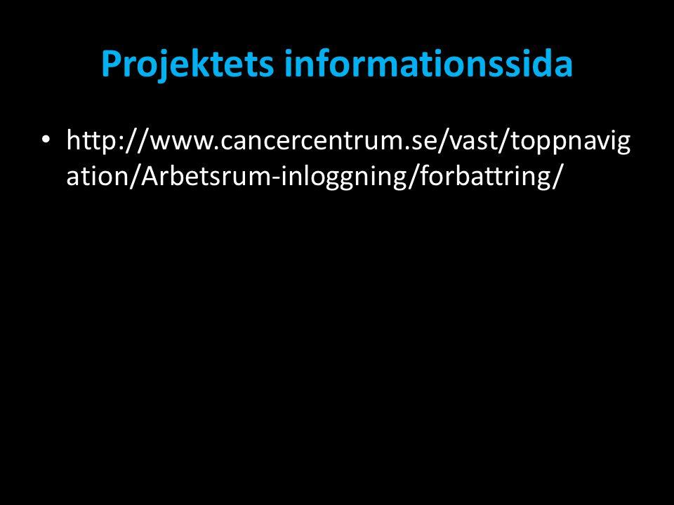 Projektets informationssida