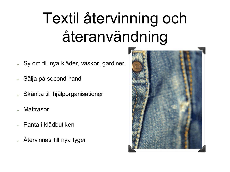 Textil återvinning och återanvändning