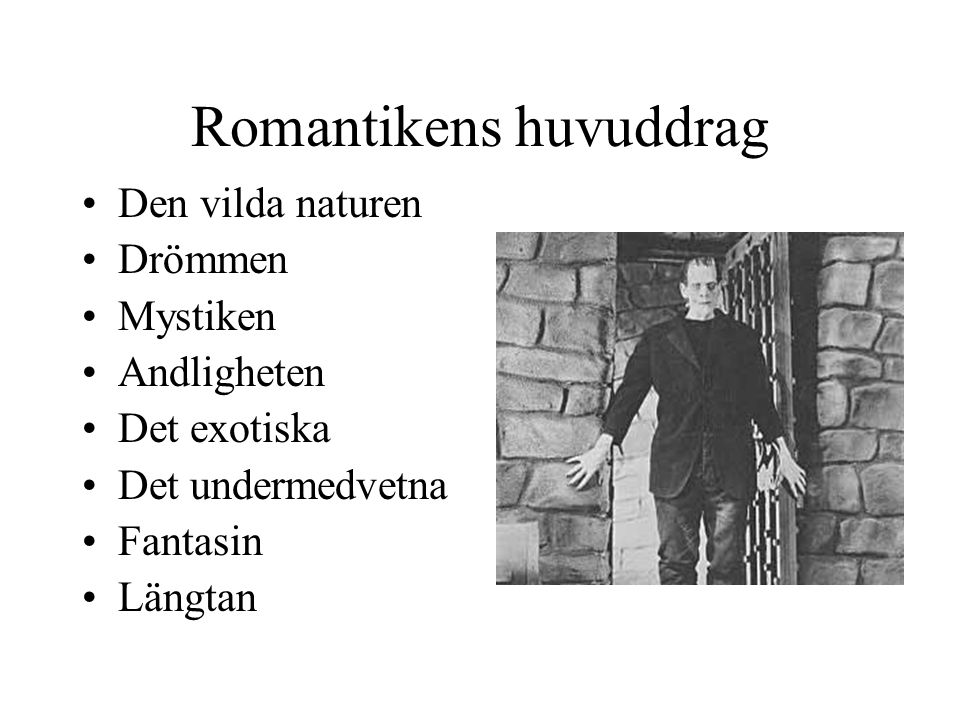 Romantikens huvuddrag