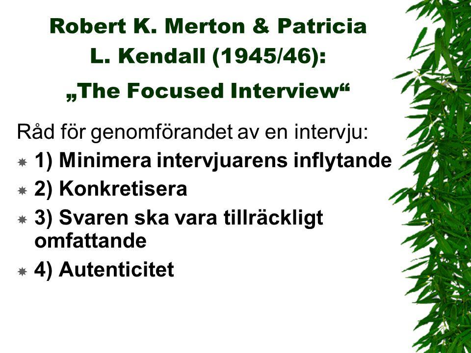 Robert K. Merton & Patricia L