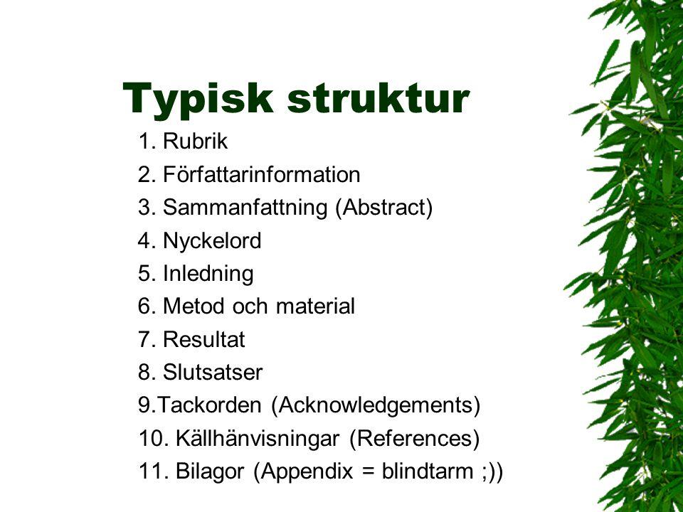Typisk struktur