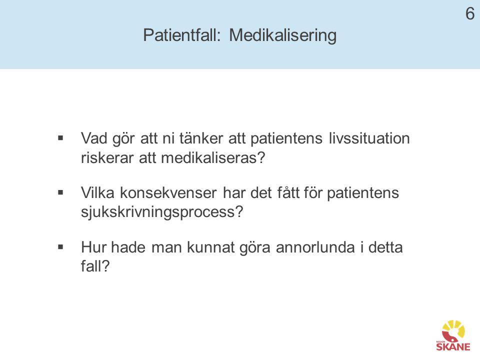 Patientfall: Medikalisering
