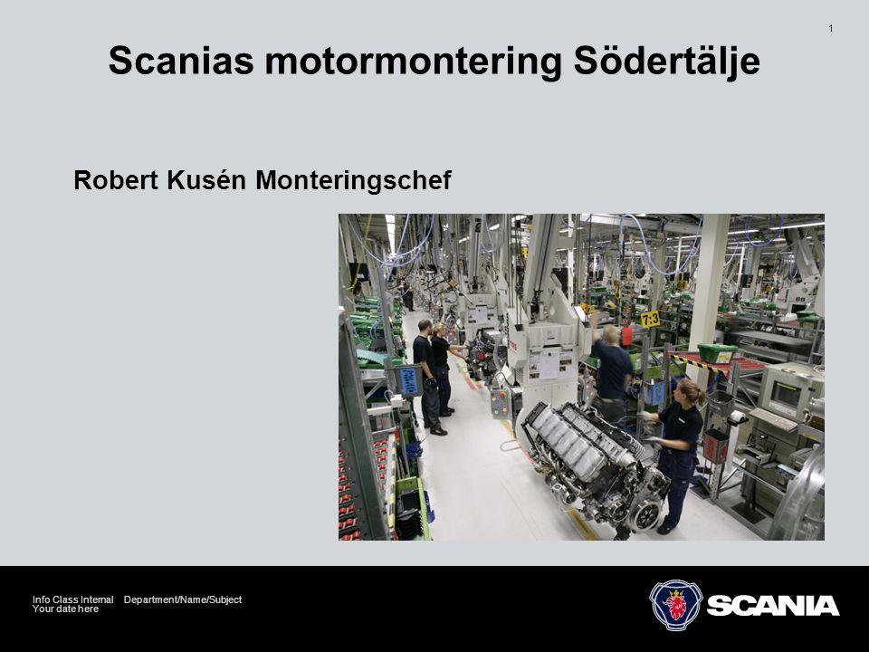 Scanias motormontering Södertälje