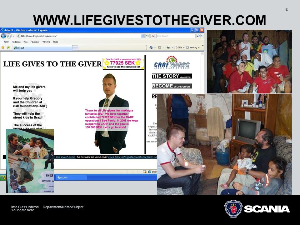 WWW.LIFEGIVESTOTHEGIVER.COM Info Class Internal Department/Name/Subject Your date here