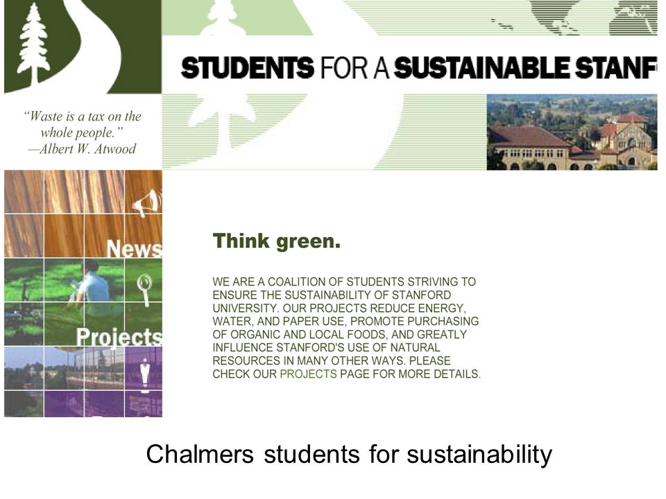 Chalmers students for sustainability